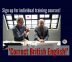 "Training announcement - ""Correct British English"""